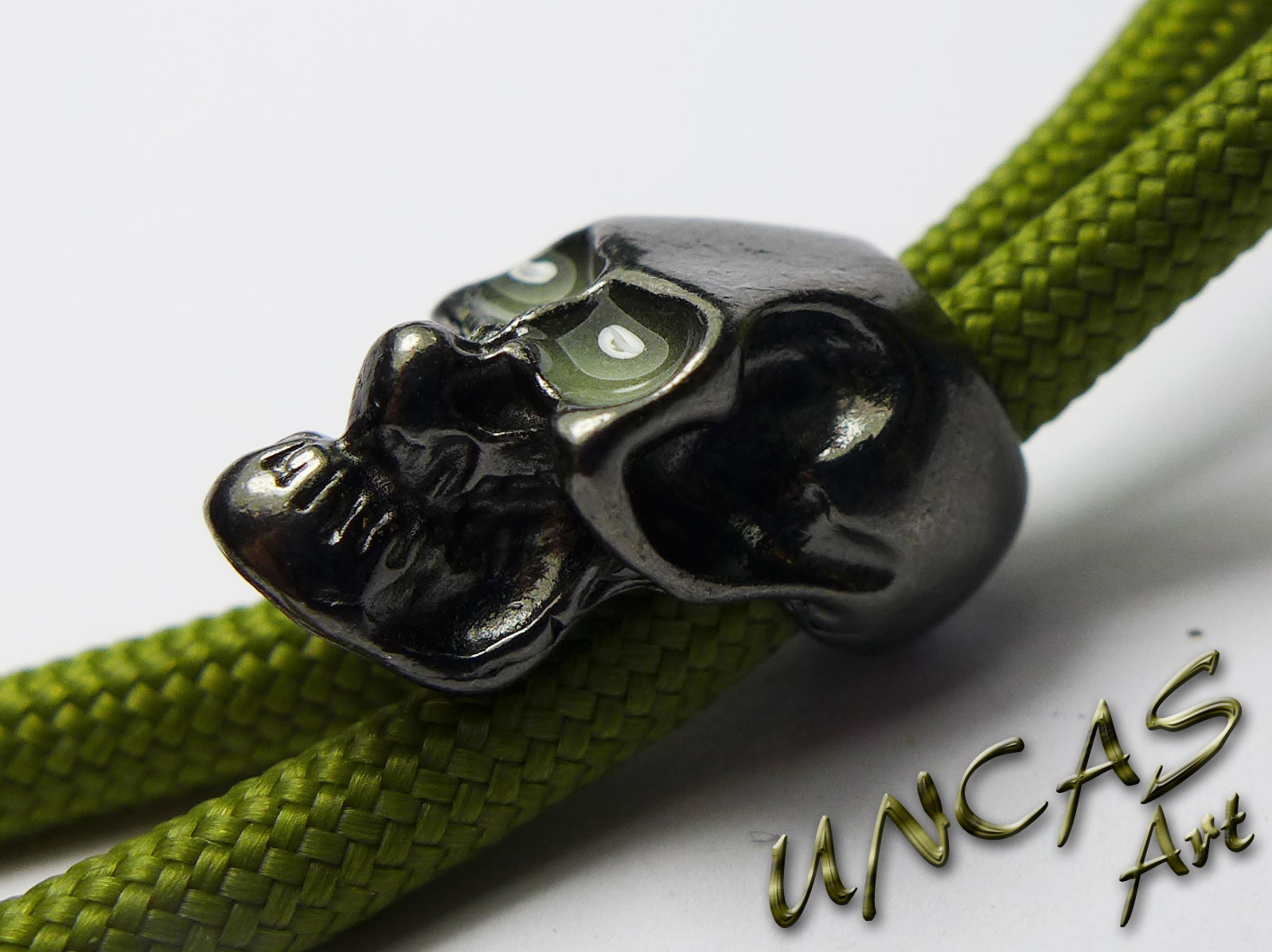 1//2 Skull Bead Armband Verschluss Paracord Lanyard Totenkopf V18